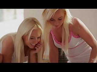 Nubile Films Teen lesbians go muff diving