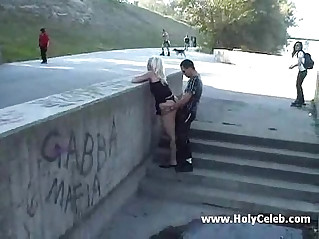 Public sex girl suck and fuck on the street crazy