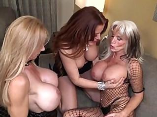 Very hot cougars threesome nicky ferrari brooke tyler sally dangelo bombshell