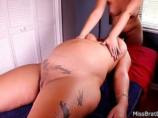 Jen Capone Lesbian Pregnant Massage