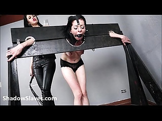 Merciless brazilian bdsm and lesbian whipping of 19yo amateur girl Demi in