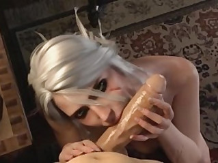 Witcher Porn Ciri Blowjob DeepThroat ?? FULL GAME