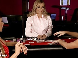 Naughty Gamblers by Sapphic Erotica sensual lesbian scene in group with Rene and Li