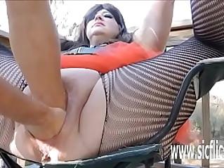 Sarahs gargantuan dildo fucking orgasms