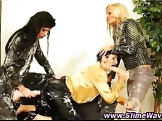 Glam euro lesbians get wam bukkake