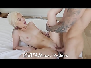 Spyfam step sister elsa jean blackmail fuck session with mouthful