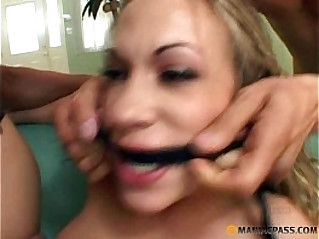 Multiple blowjobs and gangbang