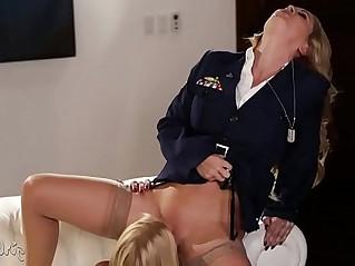 Blonde lesbian soldiers Girlsway Cherie DeVille, Alexis Fawx