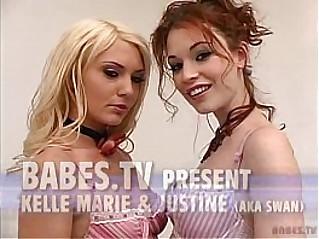 Justine Swan Kelle Marie Lesbian sex Scene