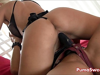Two smoking hot blondes puma swede fucks claudia