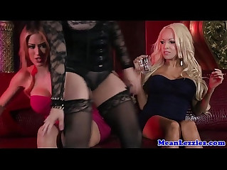Lezdom Taylor Vixens hairy wet pussy strapon fun