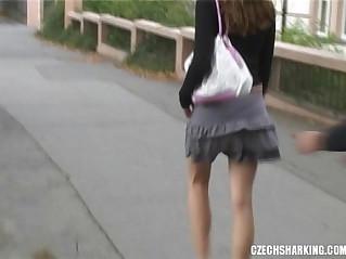 CZECH teen GIRLS SHARKED ON THE STREETS