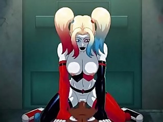 Harley Quinn Arkham ASSylum black male .